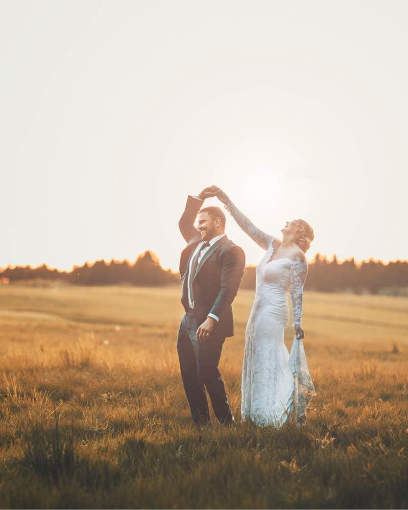 Hold bryllup i skoven