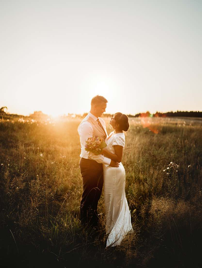 Bryllup på Sjælland i lyse selskabslokaler