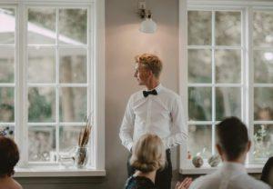 Lyse selskabslokaler til bryllupsfest