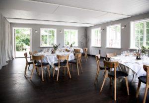 Selskabslokaler i skoven nær Roskilde